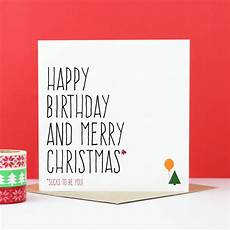 happy birthday and merry christmas card by purple tree designs notonthehighstreet com