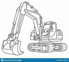 excavator coloring page coloringnori coloring pages