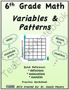 math patterns worksheets for 6th grade 547 6th grade math variables and patterns practice from dr meyers maties 6th grade on