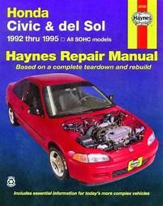 car engine manuals 1995 honda civic auto manual honda civic del sol 1992 1995 haynes service repair manual workshop car manuals repair books