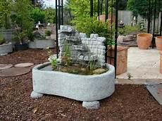 Garten Springbrunnen Aus Stein - miniteich mit wasserwand springbrunnen brunnen