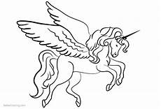 Malvorlagen Wings Unicorn Unicorn Coloring Pages With Wings Free Printable
