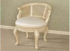 Vanity chair for bathroom, belhurst swivel vanity chair