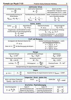 formeln zur physik 7 10 1 friedrich koenig
