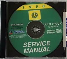 car owners manuals free downloads 1998 dodge ram 2500 club auto manual 1998 dodge ram truck factory service manual original shop repair 1500 2500 3500 for sale online