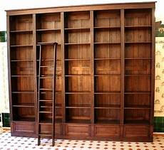Bücherwand Mit Leiter - b 252 cherwand eiche massivholz mit leiter 300x350x35cm
