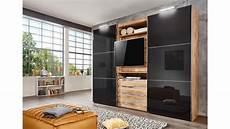 Schwebetürenschrank Mit Tv - schwebet 252 renschrank magic plankeneiche glas grau mit tv