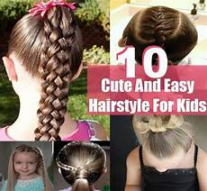 10 simple sweet cute and easy hairstyle for kids diy home things