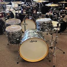 Ludwig Accent Zep Drum Set Black Oyster Pearl Reverb