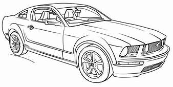 Ford Mustang Car Coloring Page