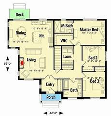 ranch craftsman house plans plan 22475dr 3 bed modern craftsman ranch home plan