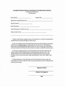 free 7 lost receipt forms in ms word pdf excel