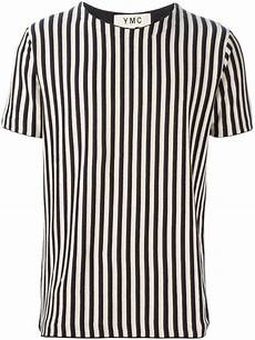 lyst ymc vertical stripes t shirt in blue for