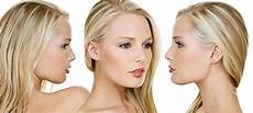 female model front and side side view front view human face facial expression stock