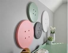 fun craft room ideas button wall art love sewing