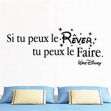 Sticker Citation Si Tu Peux Le R 234 Ver Walt Disney
