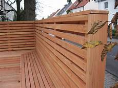 Terrasse Zaun Holz - z 228 une aus holz und metall teichbau moseler ihr