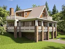 house plans sloped lot hillside house plans with walkout basement hillside house