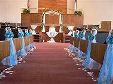 wedding decor chair bows pew bows turquoise white