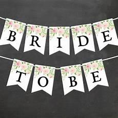 watercolor floral bridal shower banner diy printable