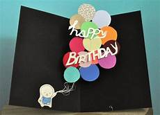 pop up birthday card balloons by studiosmo on etsy
