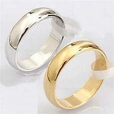 fashion plain silver gold titanium steel ring engagement wedding bands new ebay
