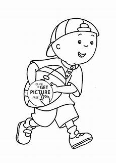 caillou plays coloring pages for printable free