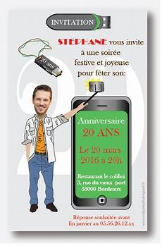 Invitation Anniversaire Homme Selfie A Personnaliser