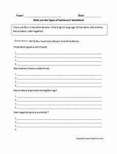 grammar worksheets types of sentences 24993 sentences worksheets types of sentences worksheets
