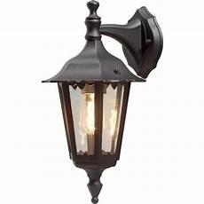konstsmide firenze downward single light small outdoor wall fitting in black finish lighting