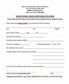 free 8 sle transcript request forms pdf