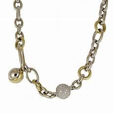 collana pomellato collana in oro bianco e giallo con diamanti pomellato