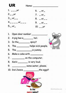 phonics ur with video and answer key worksheet free esl printable worksheets made by teachers