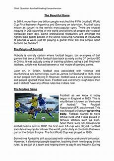 sports worksheets ks2 15817 key stage 2 year 5 6 football themed reading comprehension teaching resources