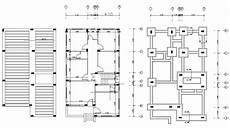 pier foundation house plans residence house column and pier foundation layout plan dwg