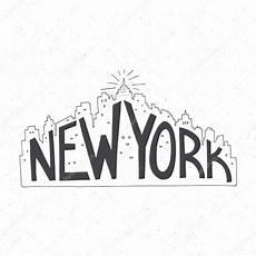 new york lettering poster stock vector