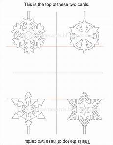 pop up card templates pdf easy pop up snowflake cards