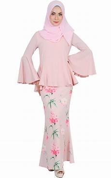 hasna modern baju kurung blush baju kurung