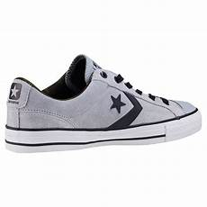 converse player ox 159777c mens trainers in grey black