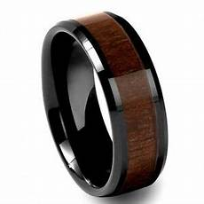 black tungsten carbide mens walnut inlay 8mm beveled wedding band ring m68 ebay black tungsten carbide mens walnut inlay 8mm beveled wedding band ring m68 ebay