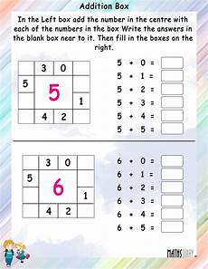 addition box math worksheets mathsdiary