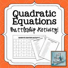 algebra quadratics worksheets 8545 quadratic equations battleship partner activity equation teaching and high school maths