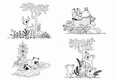 baby woodland animals coloring pages 17514 items similar to woodland forest animals coloring pages for children and adults fox coloring