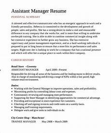 sle assistant manager resume 9 free documents in pdf