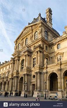facade of richelieu wing at palace louvre museum in 92701572 alamy