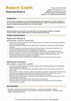 youth care worker resume sles qwikresume