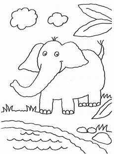 Malvorlagen Elefant Quiz Kostenlose Malvorlage Tiere Elefant Am Teich Zum Ausmalen