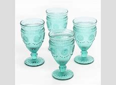 The Pioneer Woman 12 Ounce Footed Glass Goblets   Walmart.ca