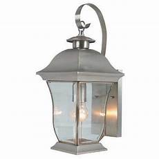 bel air lighting wall flower 1 light brushed nickel outdoor coach lantern with clear glass 4970