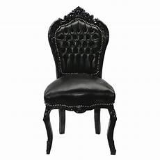 chaise baroque noir chaise baroque noir cuir louis xv simili cuir noir salle 192